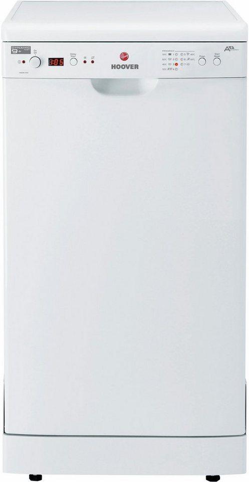 Hoover Geschirrspüler HEDS 100/E-S, A+, 10 Liter, 9 Maßgedecke in weiß