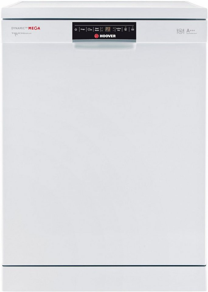 Hoover Geschirrspüler DYM 893/T, A+++, 10 Liter, 16 Maßgedecke in weiß