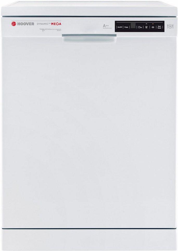 Hoover Geschirrspüler DYM 763/S, A++, 10 Liter, 16 Maßgedecke in weiß