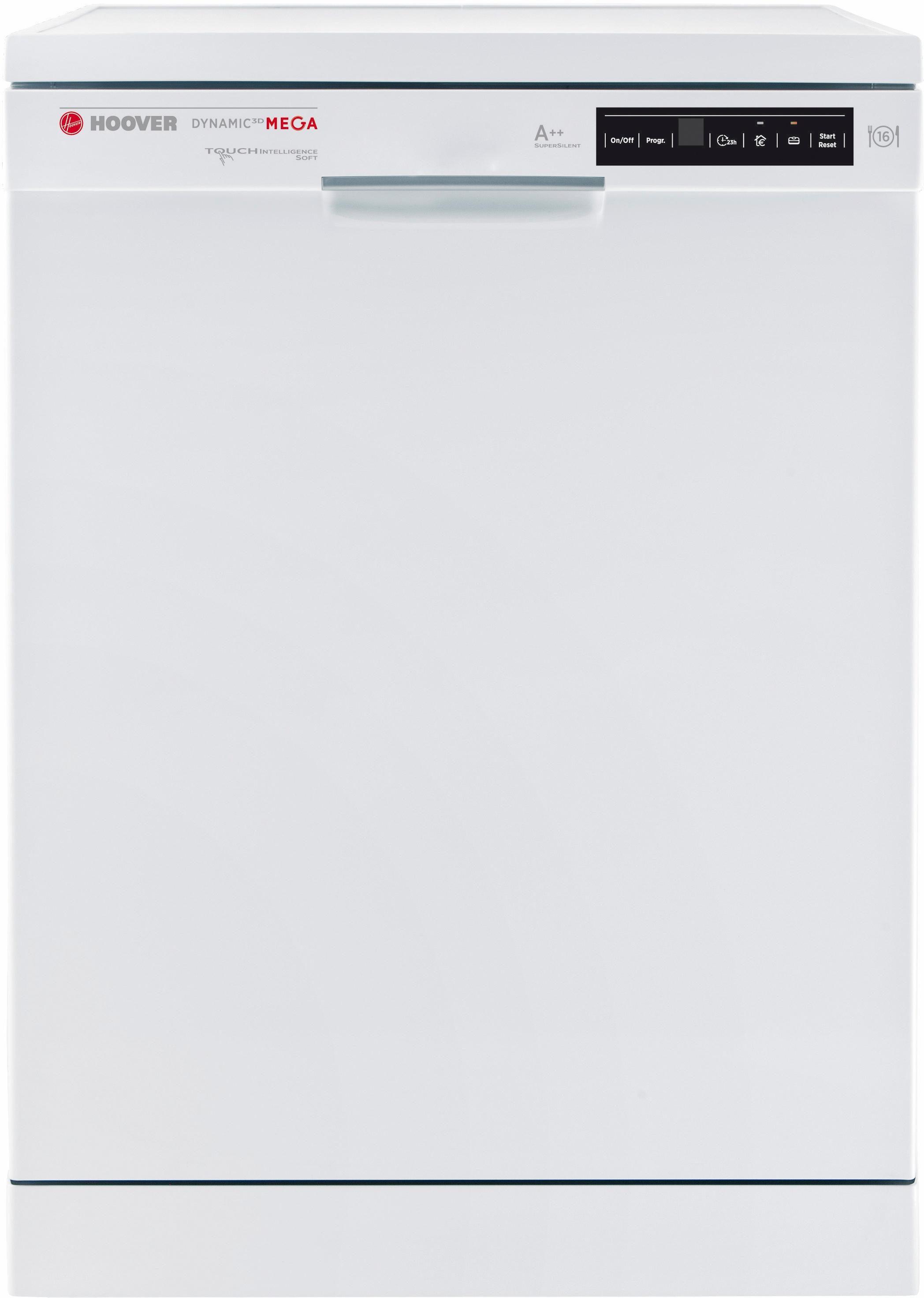 Hoover Geschirrspüler DYM 763/S, A++, 10 Liter, 16 Maßgedecke