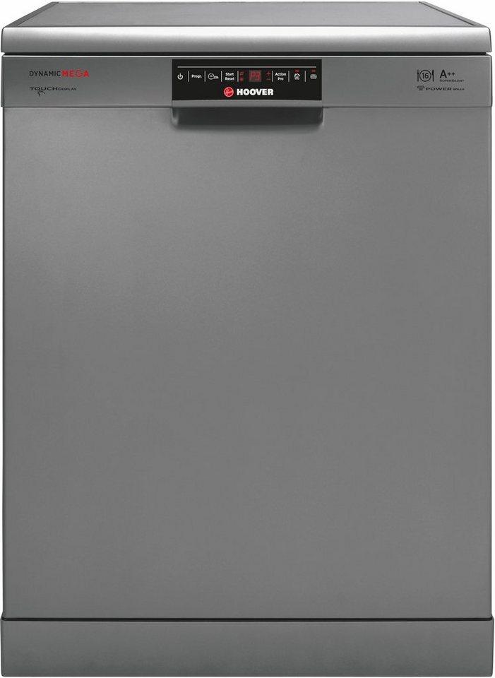 Hoover Geschirrspüler DYM 862X/T, A++, 10 Liter, 16 Maßgedecke in silberfarben