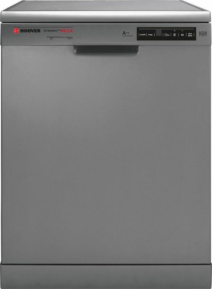 Hoover Geschirrspüler DYM 763X/S, A++, 10 Liter, 16 Maßgedecke in silberfarben