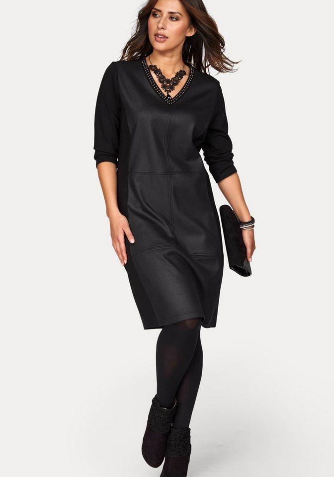 FRAPP Jerseykleid in schwarz