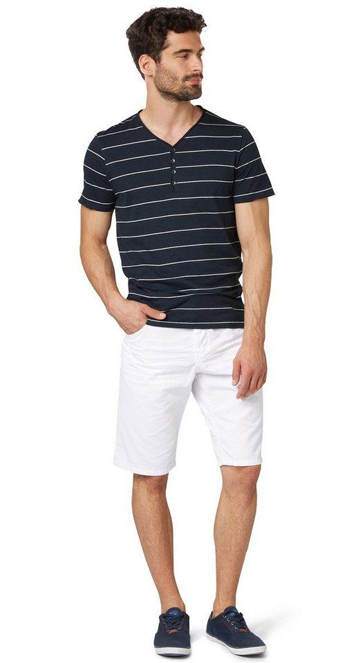 TOM TAILOR Shorts »Jeans-Bermuda im Used-Look« in white