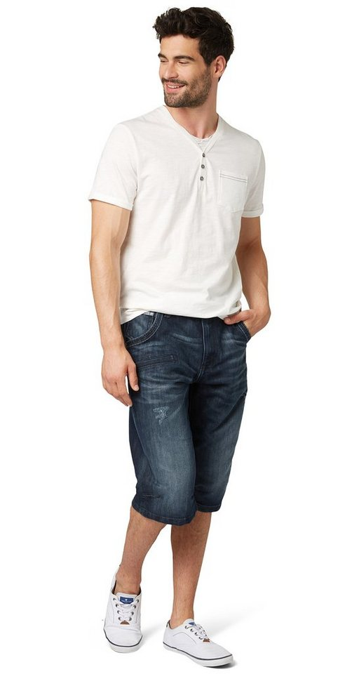 TOM TAILOR Shorts »Morris relaxed bermuda« in destroyed dark stone