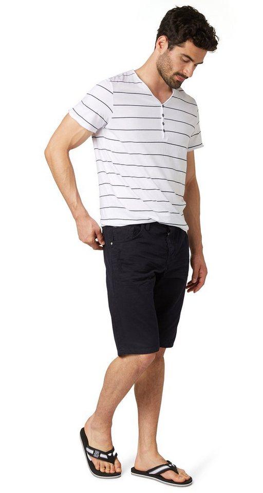 TOM TAILOR Shorts »Jeans-Bermuda im Used-Look« in dark blue