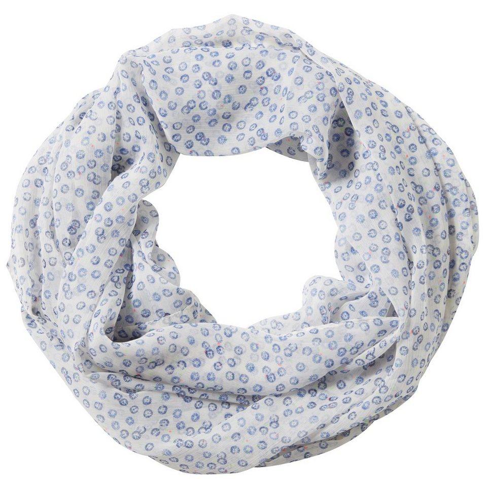 TOM TAILOR Schal »printed loop« in whisper white