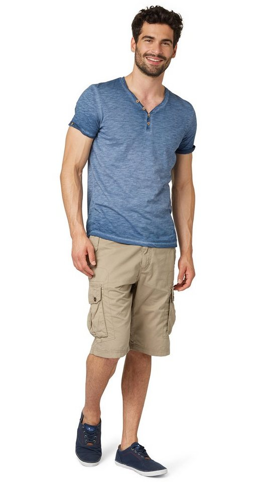 TOM TAILOR Shorts »Cargo-Hose in Bermuda-Länge« in savannah