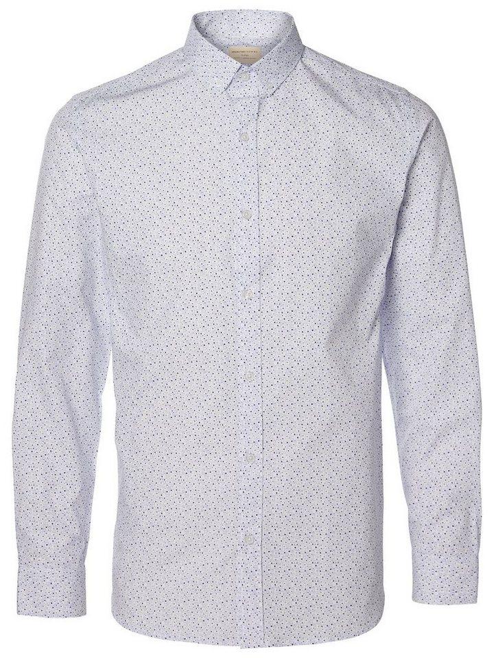 Selected Bedrucktes Langarmhemd in White 2