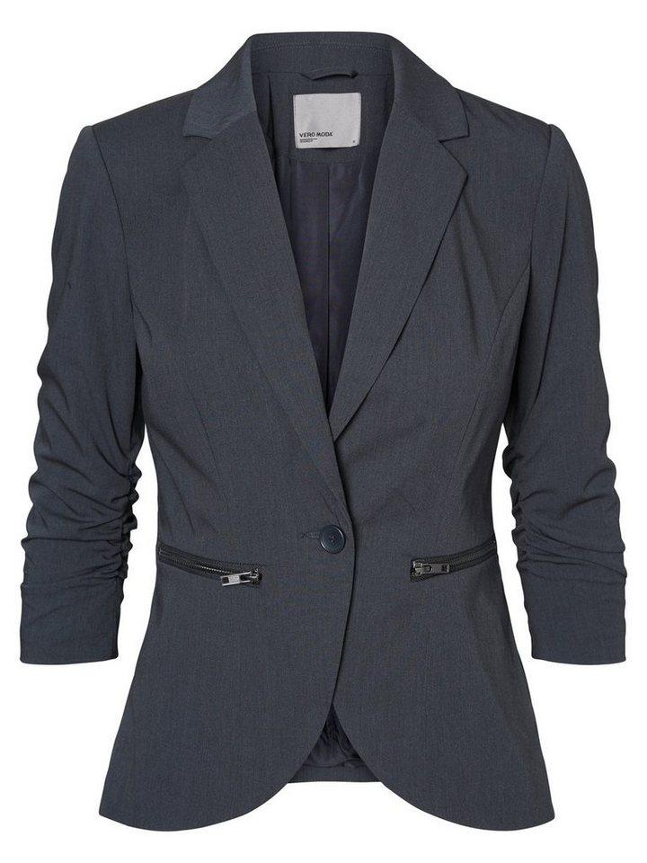Vero Moda 3/4-ärmeliger Blazer in Dark Grey Melange