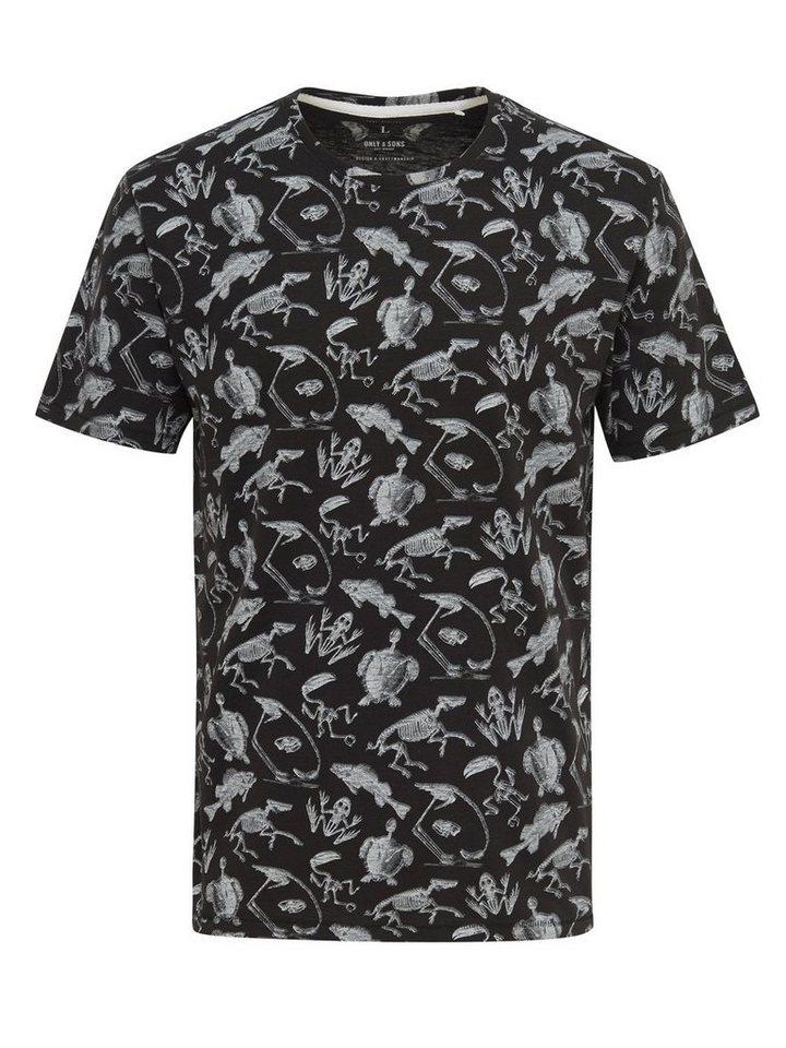 ONLY & SONS Bedrucktes T-Shirt in Black