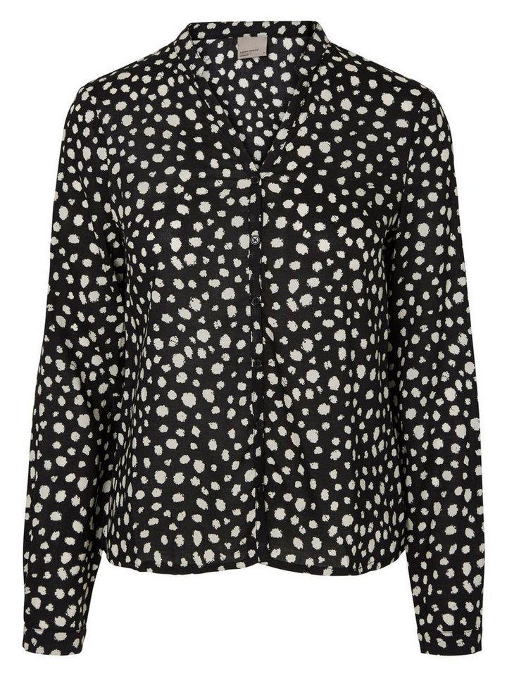 Vero Moda Bedrucktes Langarmhemd in Black