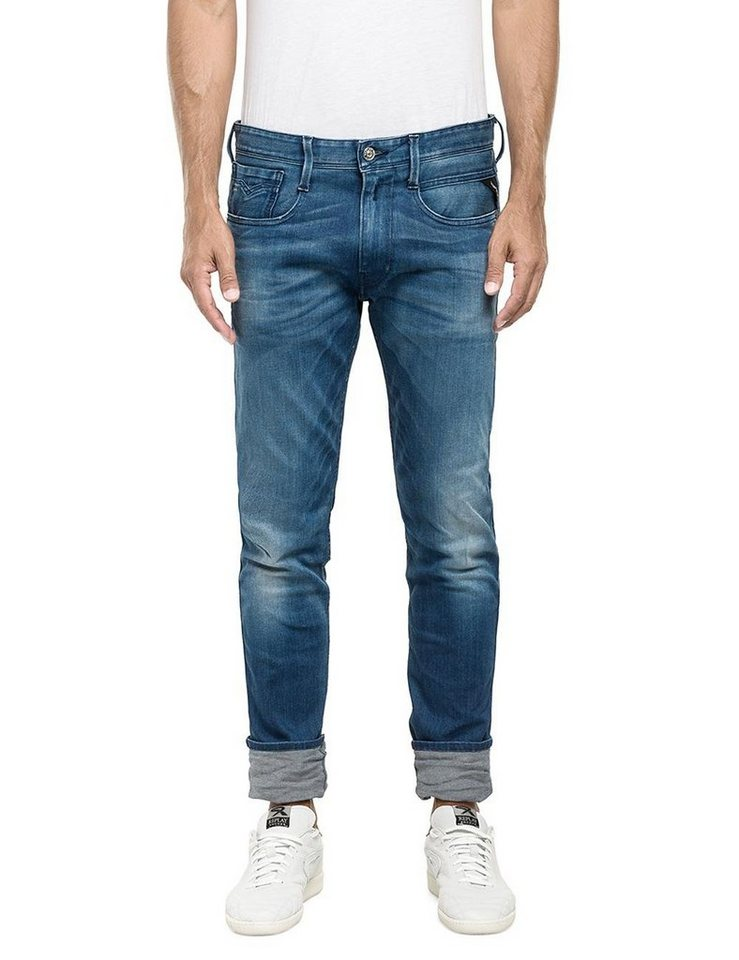Replay Jeans »ANBASS« in Blue Denim