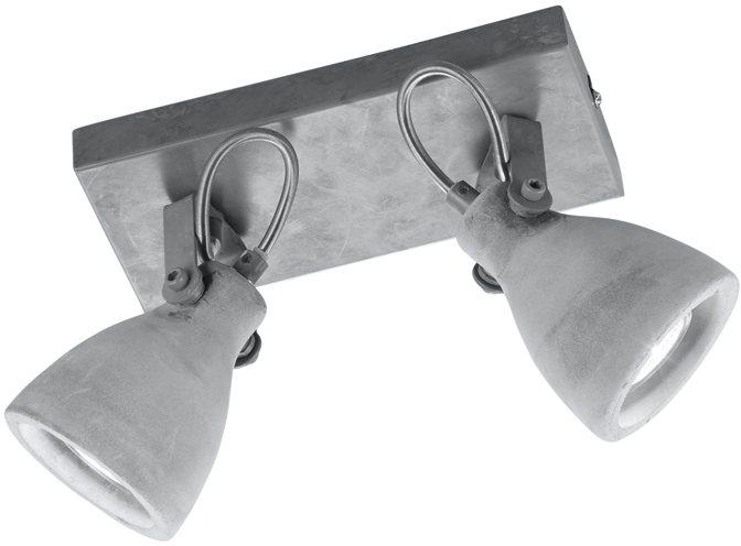TRIO Leuchten Deckenleuchte, 2 flg. »CONCRETE« in Betonoptik