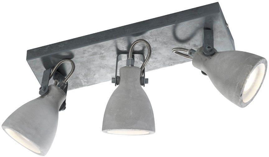 TRIO Leuchten Deckenleuchte, 3 flg. »CONCRETE« in Betonoptik