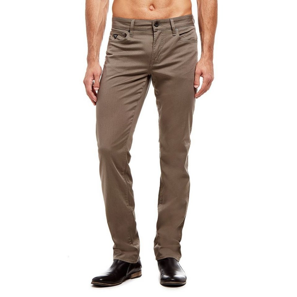 Guess Skinny-Hose im 5-Pocket-Stil in Braun