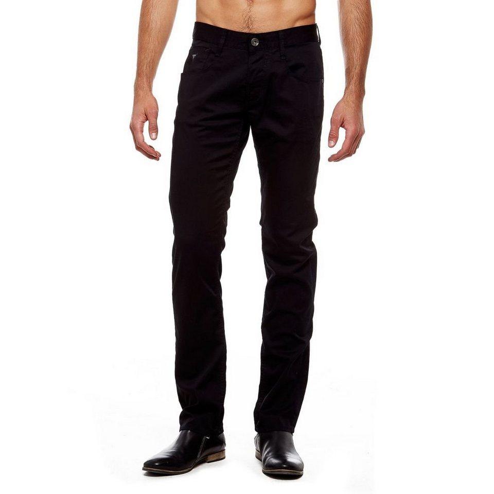 Guess Slim-Fit-Hose mit geradem Schnitt in Schwarz
