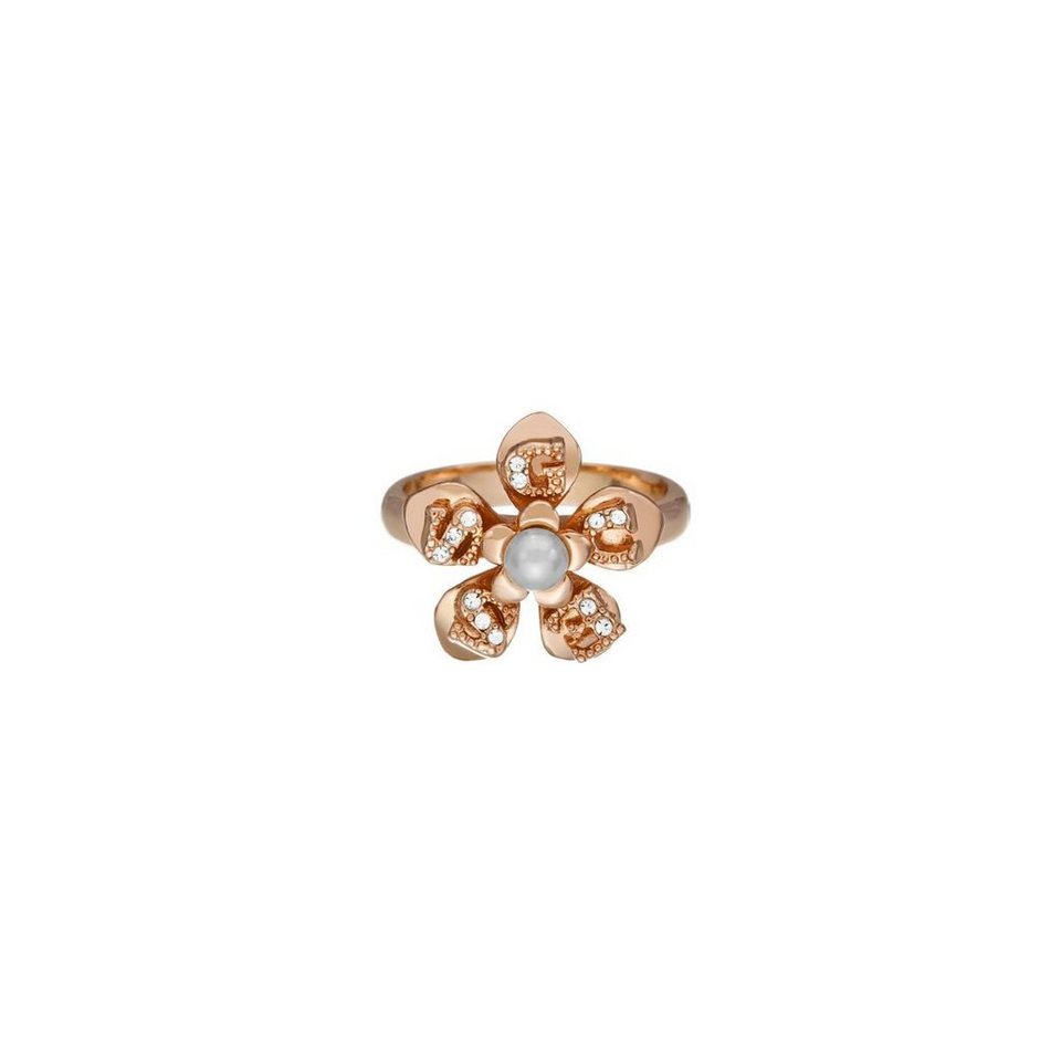 Guess RINGE »Icy flower« in Rose Goldenfarbe