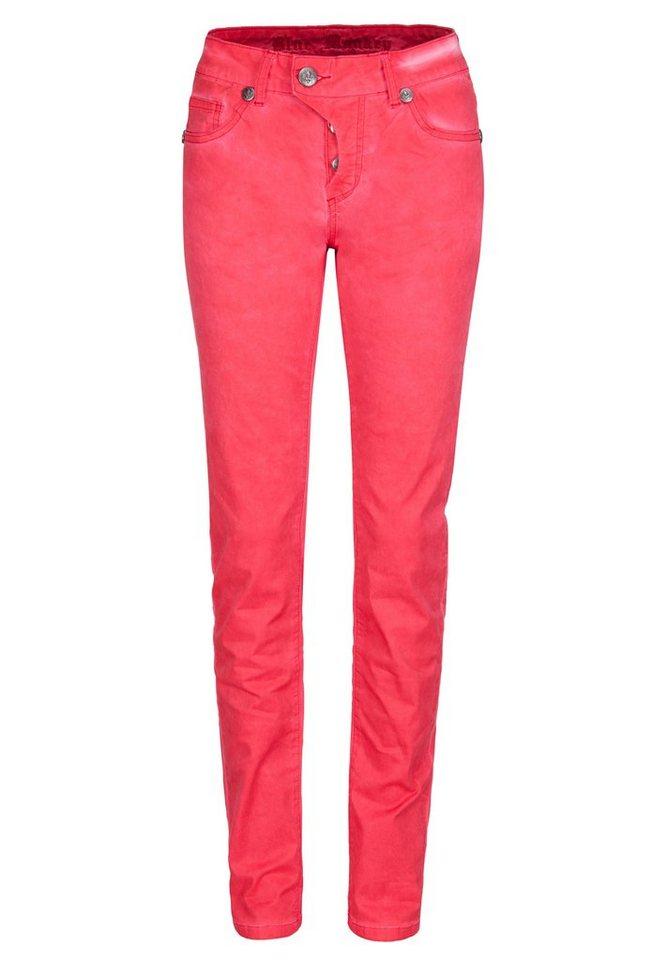 Blue Monkey 5-Pocket-Jeans »Manie1« in rot