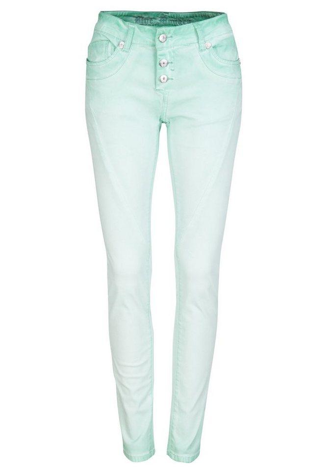 Blue Monkey 5-Pocket-Jeans »Cara« in grün
