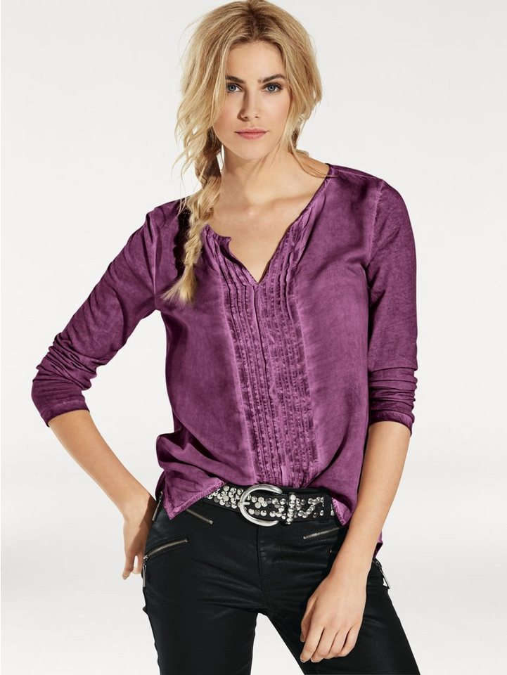 Shirtbluse in beere