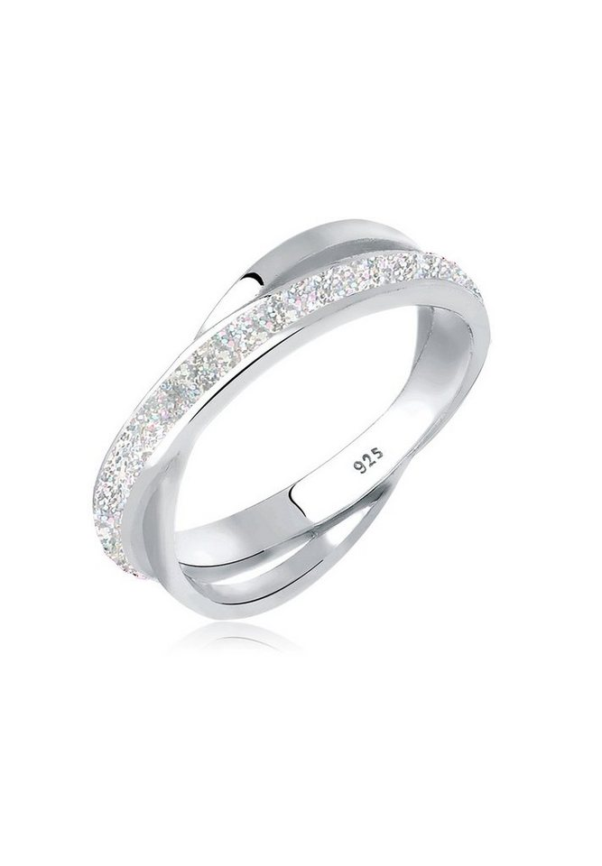 Elli Ring »Wickelring Emaille 925 Silber« in Silber