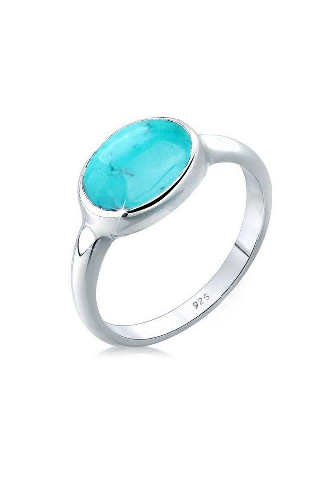 Elli Ring »Türkiser Howlit 925 Silber« in Türkis