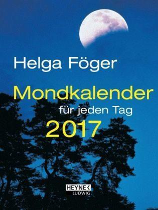Broschiertes Buch »Mondkalender für jeden Tag 2017 Taschenkalender«