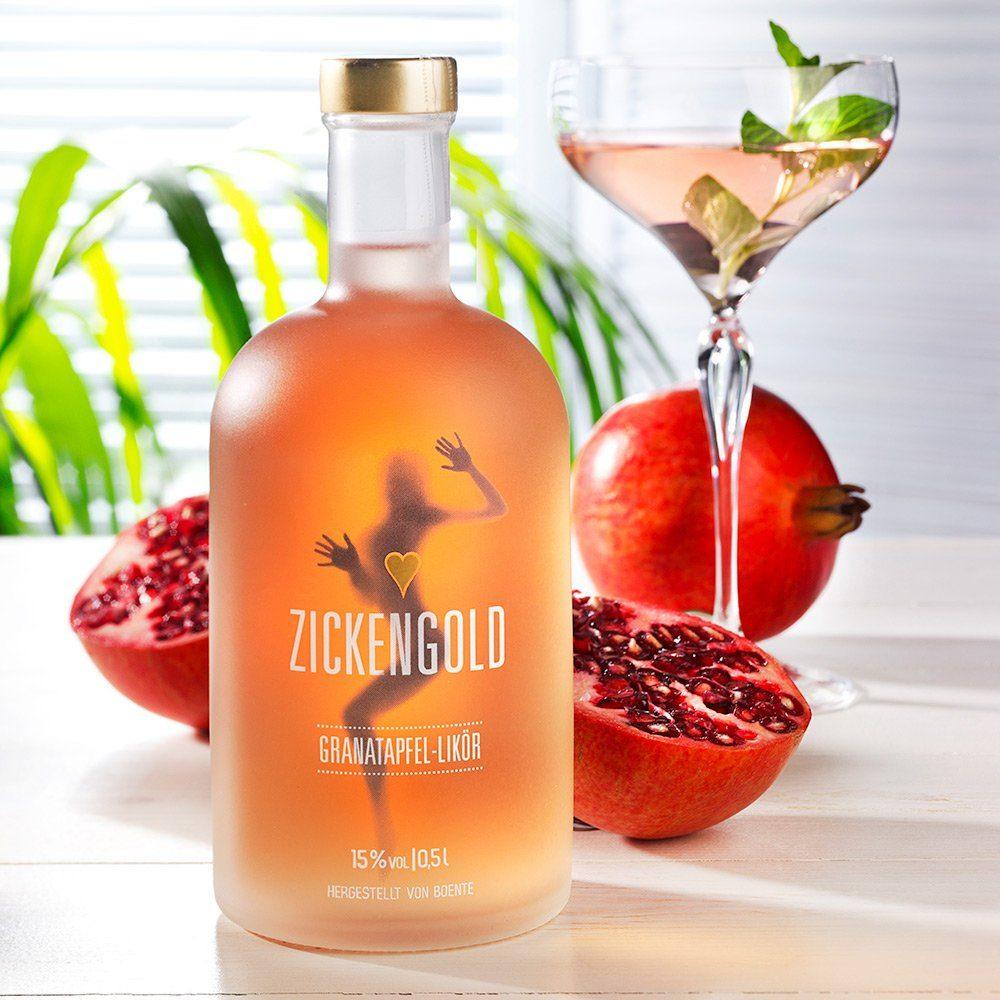 Boente Granatapfel-Likör Zickengold