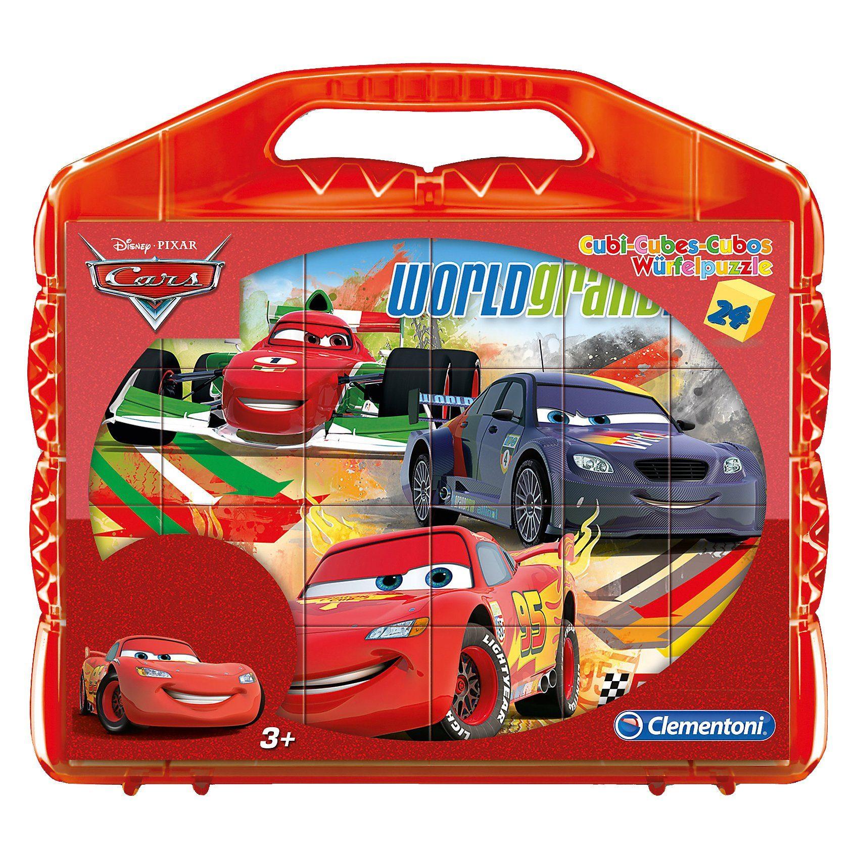 Clementoni Würfelpuzzle 24 Teile - Cars
