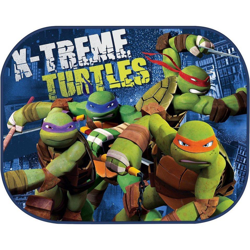 ProType Sonnenschutz für die Seitenscheiben, Ninja Turtles, 2er Pack in blau
