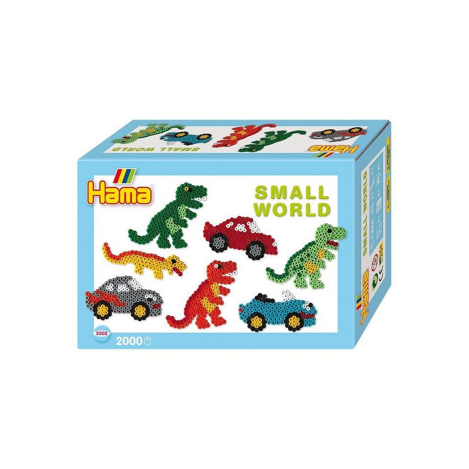 Hama Perlen HAMA 3502 Kleine Welt, 2.000 midi-Perlen & 2 Stiftplatten (A