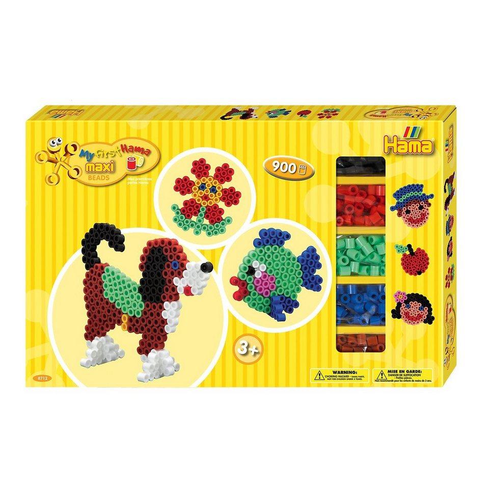 Hama Perlen HAMA 8712 Geschenkset gelb, 900 maxi-Perlen & Zubehör online kaufen
