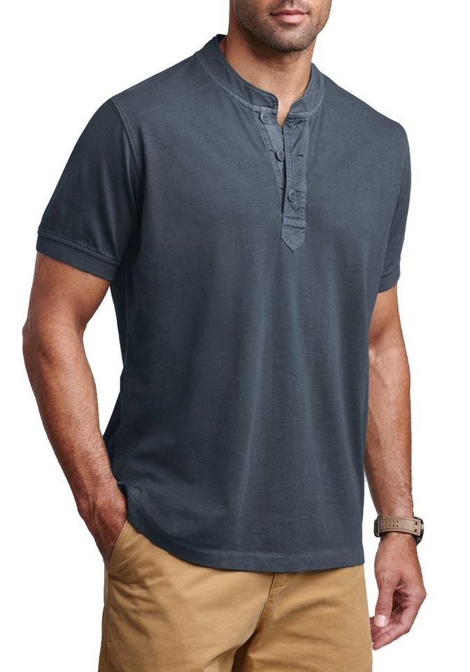 Eddie Bauer Pigment-Henleyshirt in Grau
