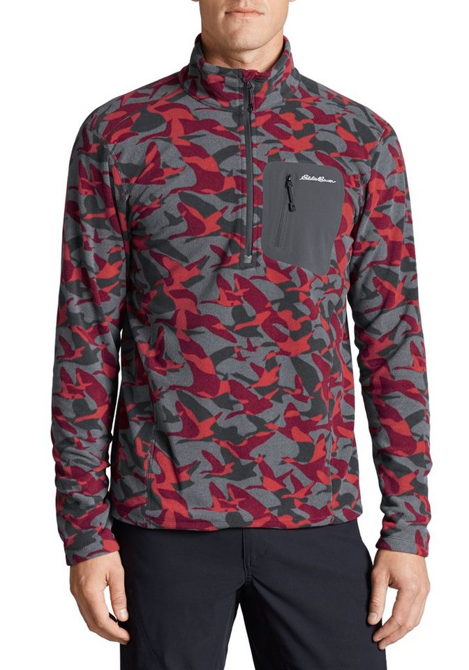 Eddie Bauer Cloud Layer® Pro Fleeceshirt bedruckt in Weinrot