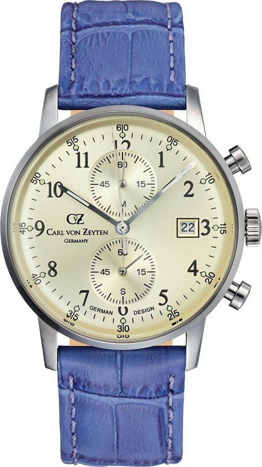 Carl von Zeyten Chronograph »Todtnau CVZ0012CHBR« in lila