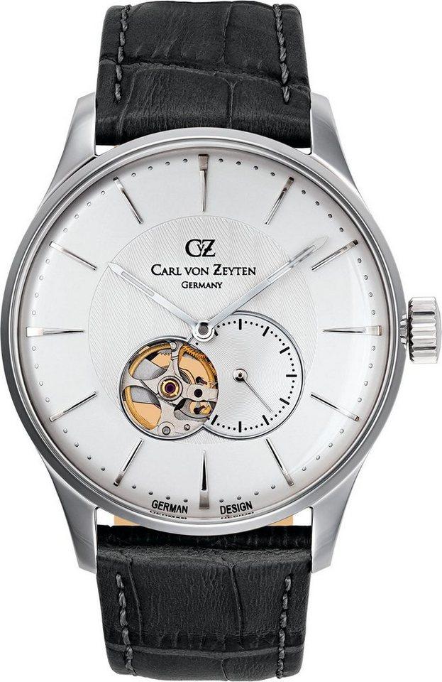 Carl von Zeyten Automatikuhr »Brigach CVZ0022SL« Kleine Sekunde in schwarz