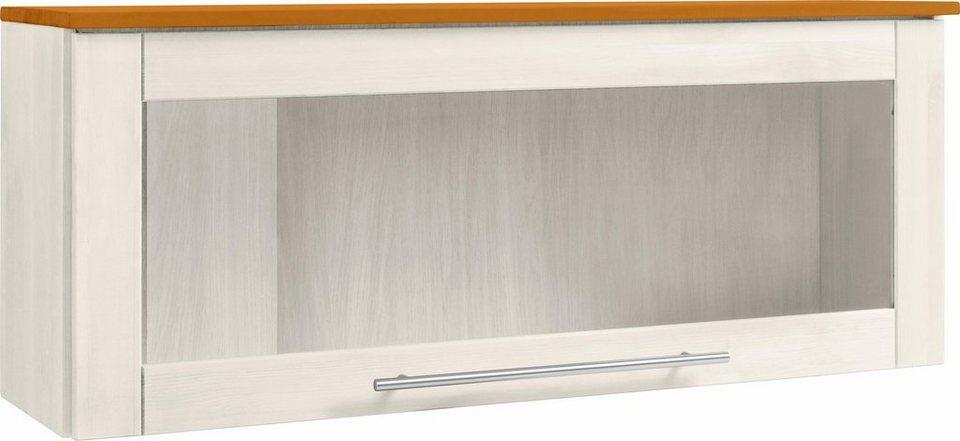 Glashängeschrank »Ribe« in weiß/honigfb.