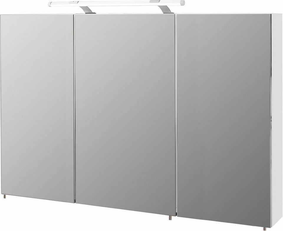 Schildmeyer Spiegelschrank »Dorina« mit LED-Beleuchtung in weiß