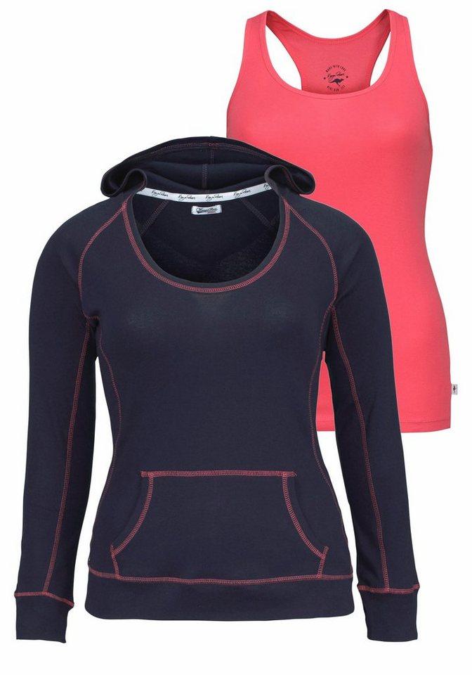 KangaROOS 2-in-1-Shirt (Set, 2 tlg., mit Top) in marine-pink