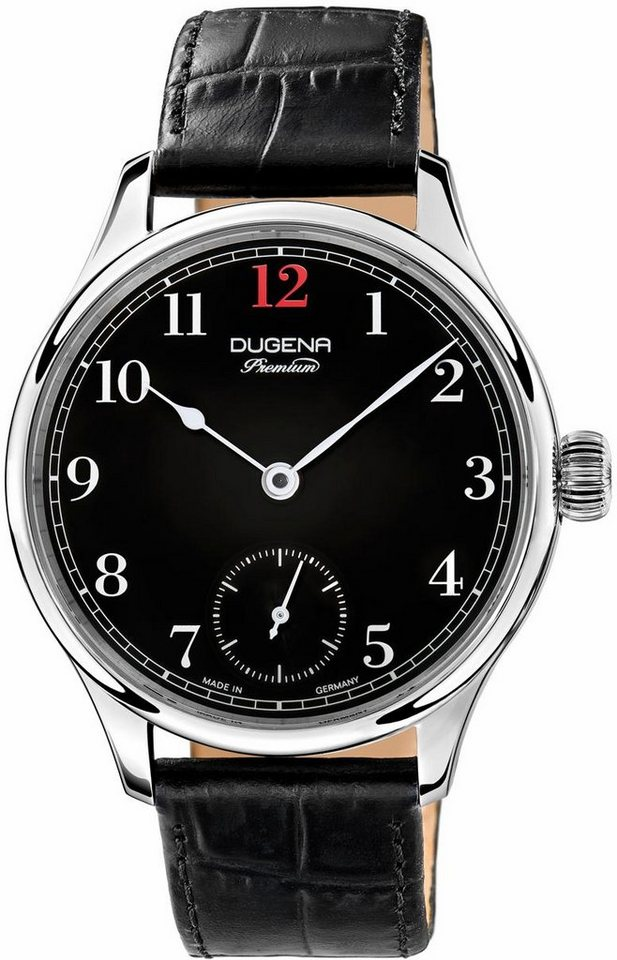 DUGENA PREMIUM Mechanische Uhr »Epsilon 1 7000055« Made in Germany in schwarz