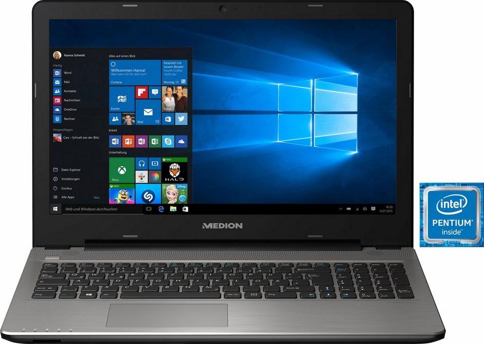 Medion® Akoya E6421 Notebook, Intel® Pentium™, 39,6 cm (15,6 Zoll), 1128 GB Speicher, 8192 MB DDR3L in silberfarben