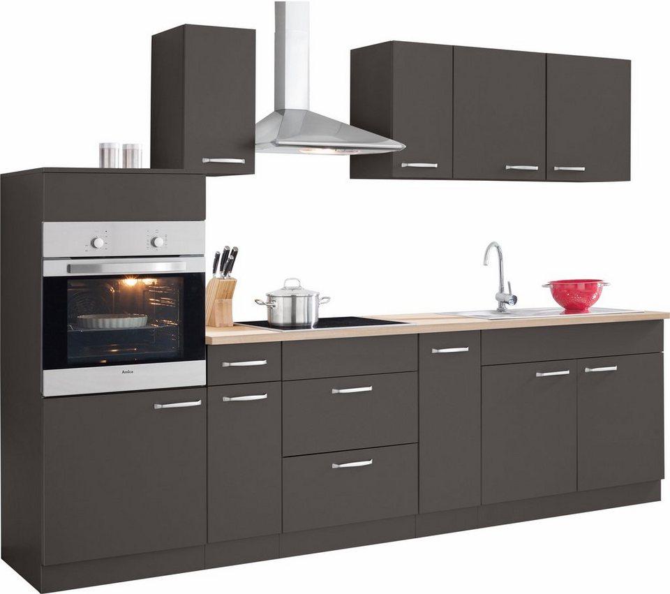 Küchenzeile mit E-Geräten »Basel«, Breite 280 cm | OTTO