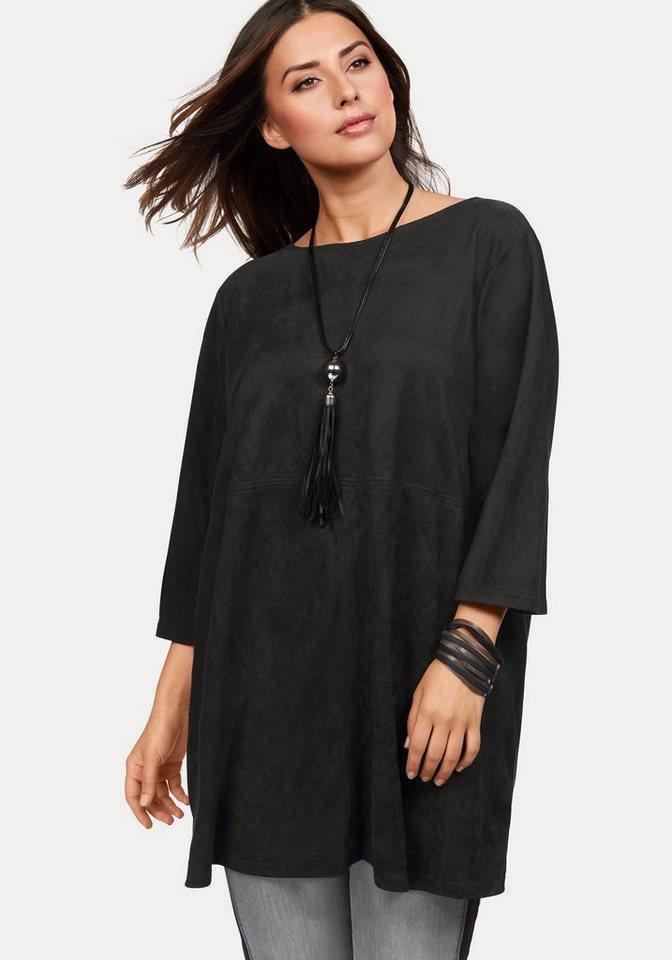 Zhenzi Longshirt in schwarz