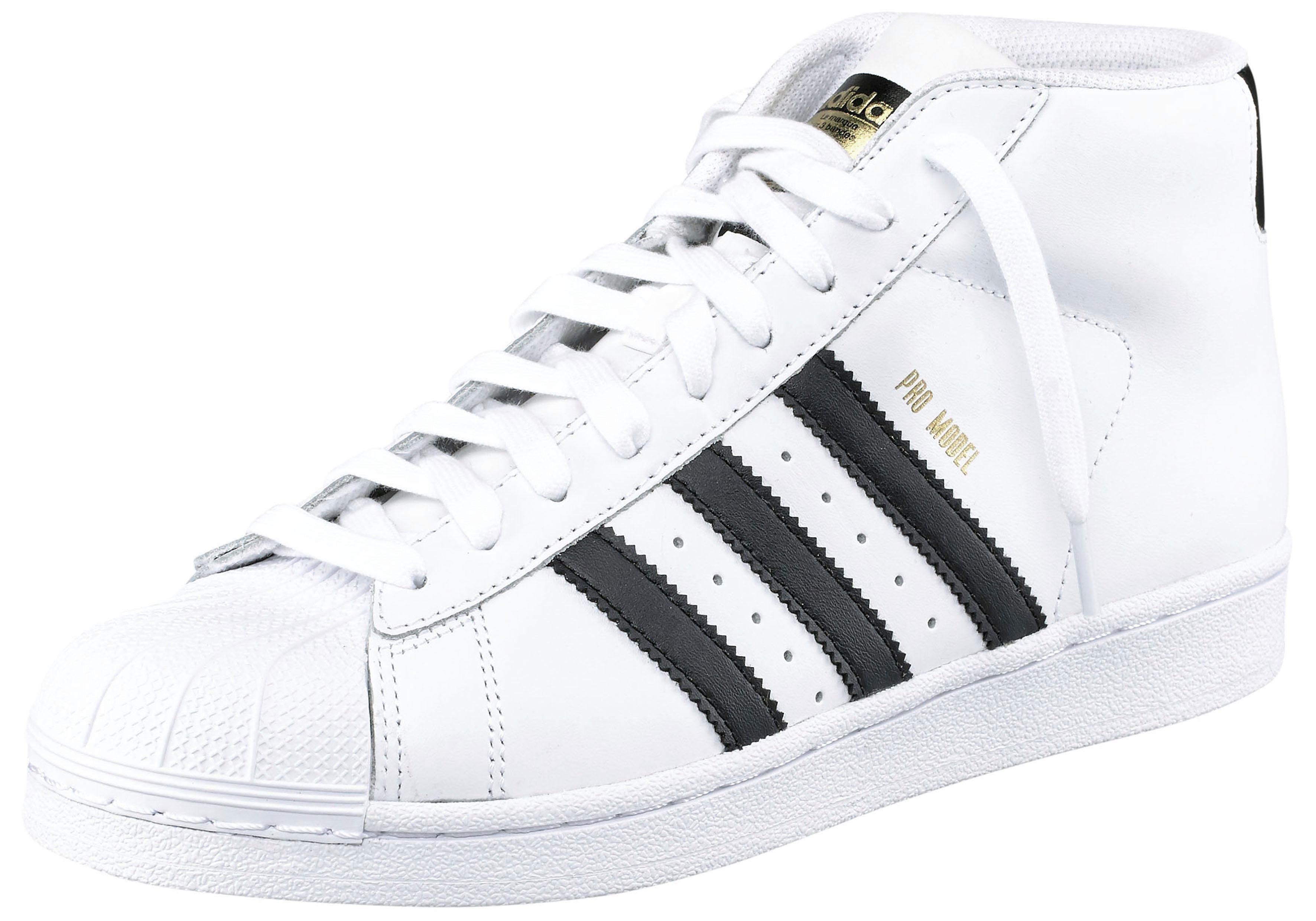 adidas Originals Superstar Pro Model Sneaker  weiß-schwarz