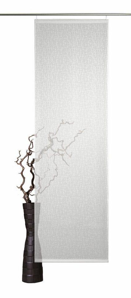 Schiebegardine, VHG, »Rustic Chic Uni«, mit Klettband (1 Stück mit Technik) in weiss