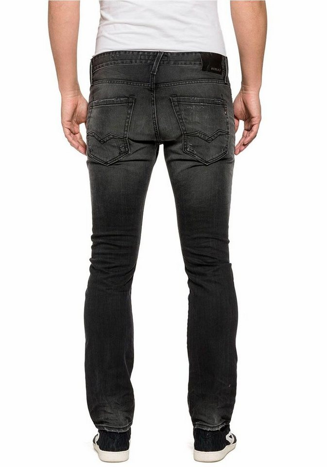 Replay Regular-fit-Jeans »Waitom« in black-used