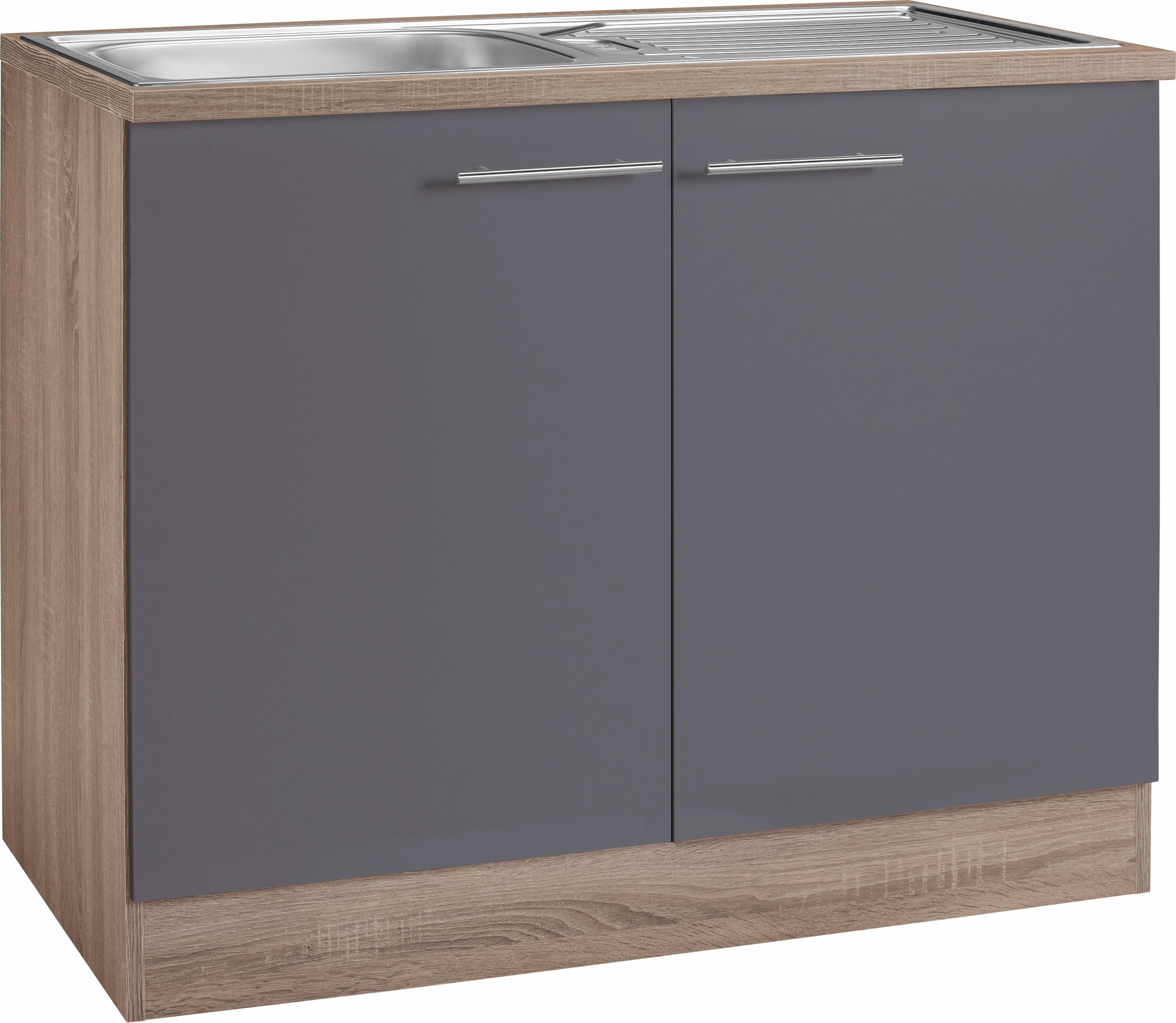 Spulenunterschrank 100 cm breit rc55 hitoiro for Küchenschrank 50 cm breit
