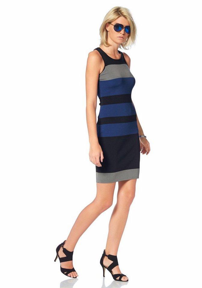 Laura Scott Strickkleid mit Multicolor-Streifen in blau-gestreift