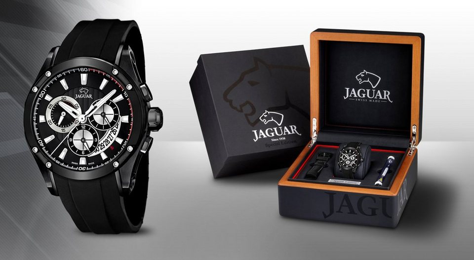 Jaguar Chronograph »J690/1« Mitglied der FESTINA Group (Set, 2 tlg.) in schwarz